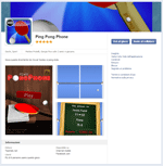 Ping Pong Phone on FB App center